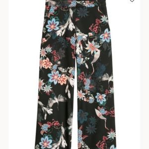 H&M high waisted floral printed pants